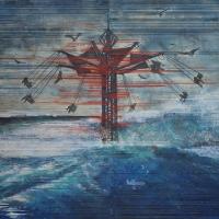 Anthropocène 6, Graphite et acrylique sur bois, 122 x 183cm, 2018