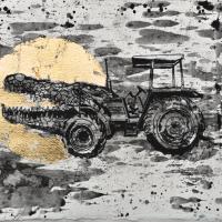Agnus Dei 6, graphite et feuille d'or sur papier, approx. 26 x 36cm, 2012