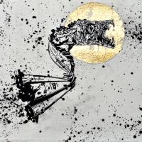 Agnus Dei 8, graphite et feuille d'or sur papier, approx. 26 x 36cm, 2012