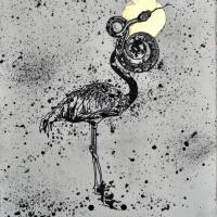 Agnus Dei 9, graphite et feuille d'or sur papier, approx. 36 x 26cm, 2012