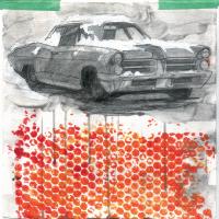 Du plomb dans le corps/Des fleurs dans la tête 10, graphite et acrylique sur papier, approx. 36 x 36cm, 2006
