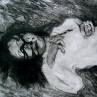 Du plomb dans le corps/Des fleurs dans la tête 16, graphite et acrylique sur papier, approx. 36 x 36cm, 2006