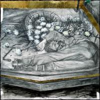 Du plomb dans le corps/Des fleurs dans la tête 5, graphite et acrylique sur papier, approx. 36 x 36cm, 2006