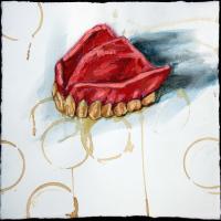 Du plomb dans le corps/Des fleurs dans la tête 8, graphite et acrylique sur papier, approx. 36 x 36cm, 2006