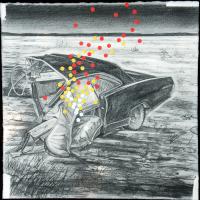 Du plomb dans le corps/Des fleurs dans la tête 9, graphite et acrylique sur papier, approx. 36 x 36cm, 2006