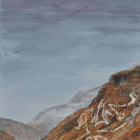 Affronter les sommets 4, huile sur toile, 140 x 80cm, 2009