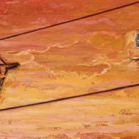 Capter le message, huile sur toile, 30 x 60cm, 2007