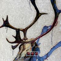 Cerises sauvages, huile sur toile, 90 x 60cm, 2006