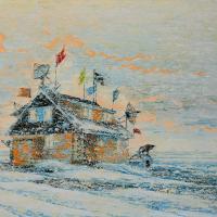 Dialogue dans le Far Nord, huile sur toile, 153 x 214cm, 2007