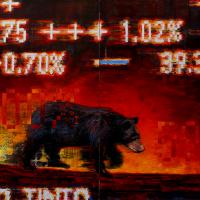 La quête du profit, acrylique et huile sur toile, 162 x 244cm, 2007
