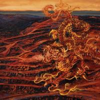 Le dragon au ventre creux, acrylique et huile sur toile, 153 x 214cm, 2007