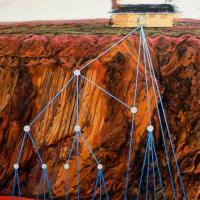Mutations, huile sur toile, 122 x 91cm, 2007