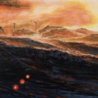 Neiges noires, huile sur toile, 46 x 60cm, 2007