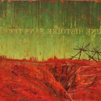 Une histoire sans terre, acrylique et huile sur toile, 46 x 91cm, 2009