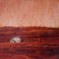 Une tente sur Mars, acrylique et huile sur toile, 46 x 61cm, 2009