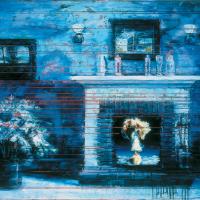 Ébranler leur quiétude 2, huile sur toile, 122 x 183cm, 2004