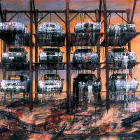 La passation des pouvoirs, acrylique et huile sur toile, 122 x 183cm, 2004