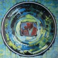 Vortex administration 1, acrylique et huile sur toile, 152 x 152cm, 2004