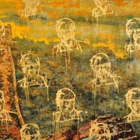From China with Love 14, graphite, acrylique et huile sur bois, 183 x 122cm, 2011