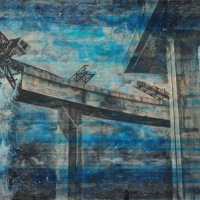 From China with Love 15, graphite, acrylique et huile sur bois, 122 x 214cm, 2011