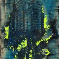 From China with Love 18, graphite, acrylique et huile sur bois, 152 x 61cm, 2011