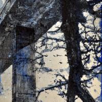 From China with Love 24, graphite, acrylique et feuille d'aluminium sur bois, 152 x 61cm, 2011