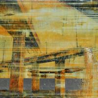 From China with Love 4, graphite, acrylique, huile et feuille d'aluminium sur bois, 152 x 244cm, 2010
