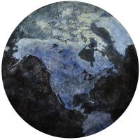 New Globalization, acrylique sur bois, tondo 152cm, 2012