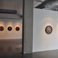 Vue de l'exposition La tempête parfaite/The Perfect Storm, Galerie Lacerte Montréal, décembre 2012