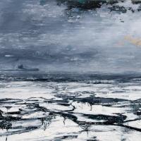 La bataille du St-Laurent 1, acrylique et huile sur toile, 122 x 183cm, 2008