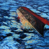 Buffet froid, acrylique et huile sur toile, 153 x 214cm, 2008