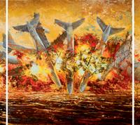 La persistance d'un battement d'ailes, acrylique et huile sur toile, 152 x 760cm, 2009