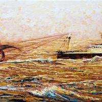 Biohazard's Fishing, huile sur toile, 51 x 122cm, 2008