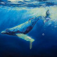 Baleine mécanique, huile sur toile, 76 x 101cm, 2008