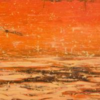 La bataille du St-Laurent 2, acrylique et huile sur toile, 45 x 90cm, 2009