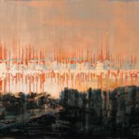 La tragédie pittoresque des ondes, acrylique et huile sur toile, 61 x 213cm, 2008