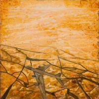 Se mirer en eaux troubles 1, acrylique et huile sur toile, 60 x 60cm, 2009