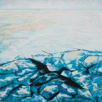 Se mirer en eaux troubles 2, acrylique et huile sur toile, 60 x 60cm, 2009