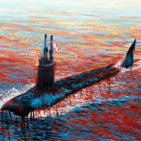 Visite protocolaire, acrylique et huile sur toile, 76 x 91cm, 2008