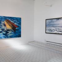 Vue de l'exposition Le fleuve empaillé, Galerie Lacerte, Québec, 2009