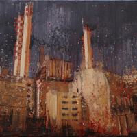 Le principe de la neutralité 4, acrylique et huile sur toile, 45 x 90cm, 2009