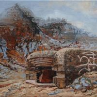 Le principe de la neutralité 5, acrylique et huile sur toile, 45 x 90cm, 2009