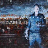 Dématérialisation du médium, acrylique et huile sur toile, 152 x 214cm, 2010