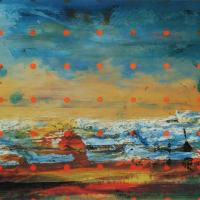 Fleuve-matière, estampe numérique, tirage de 75, 23 x 61cm, 2008