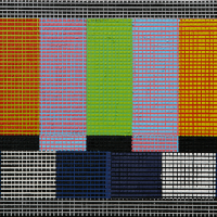 Flip Color Bar, acrylique et huile sur toile, 30,5 x 46cm, 2007