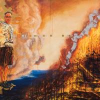 Le cachet de la foi, huile sur toile, 152 x 304cm, 2004
