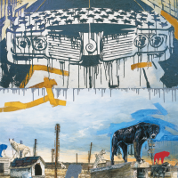 Se (faire-valoir), huile sur toile, 214 x 152cm, 2003