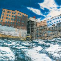 Dériver en surface, huile sur toile, 213,5 x 335,5cm, 2002