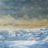 Harnacher le paysage 1, huile sur toile, 91 x 244cm, 2002