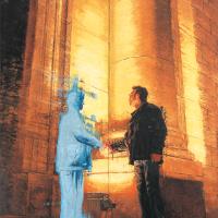 Le pacte, huile sur toile, 212 x 152,5cm, 2002